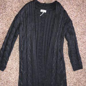 Women's Charcoal Sweater Cardigan
